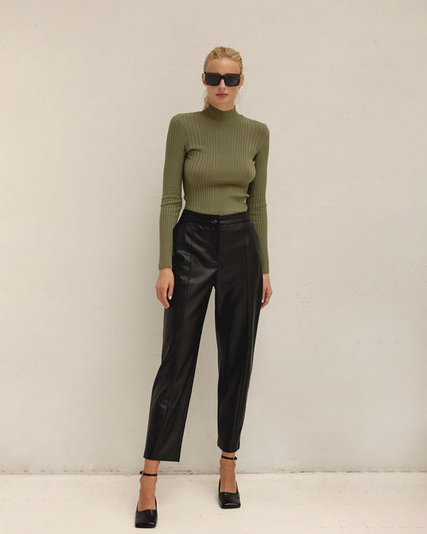Khaki turtleneck