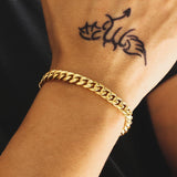 8mm Miami Cuban Bracelet 18k Gold