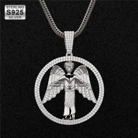 925 Sterling Silver Angel Pendant
