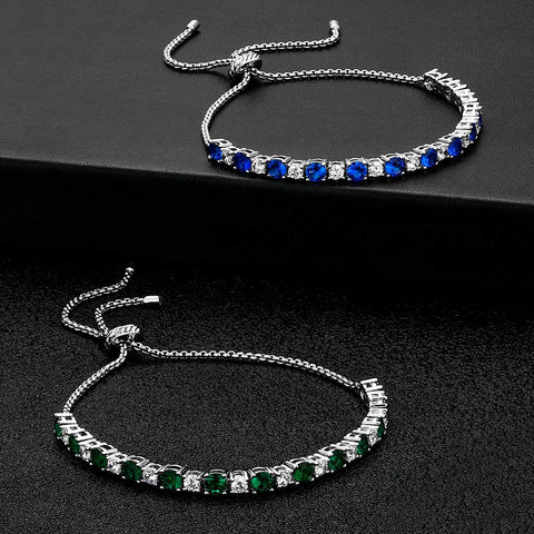 KRKC Drop Shipping 1pcs Service 4mm Adjustable Tennis Bracelet Jewelry Women Iced Out Diamond CZ Tennis Bracelet for Women