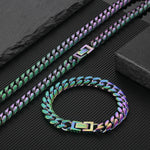 8mm Miami Cuban Rainbow Bracelet