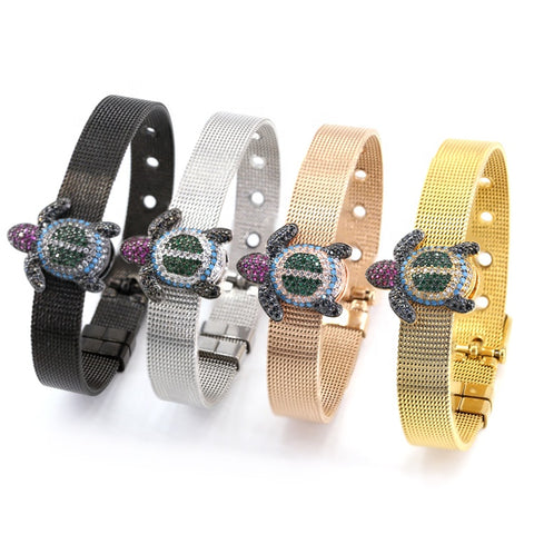 Big Turtle Connector Stainless Steel Watch Belt Bracelet