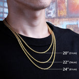 3mm Rope Chain Silver