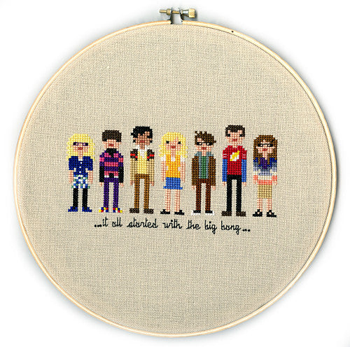 PIXEL PEOPLE: THE BIG BANG THEORY | WEELITTLESTITCHES