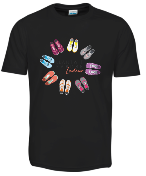 Llantwit Ladies Black T-Shirt