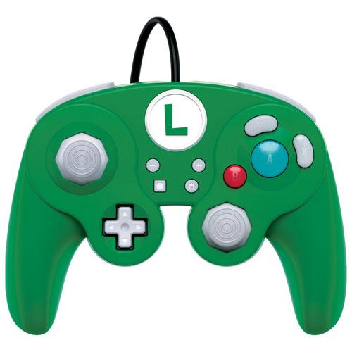 PDP Luigi Wired Fight Pad Pro Controller for Switch - Green (6029625753767)