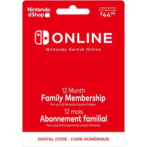 Nintendo Switch Online 12-Month Family Membership | Gaming Shop