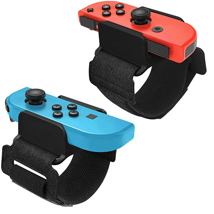 FASTSNAIL 2 Pack of Controller Strips for Nintendo Switch Joy Con