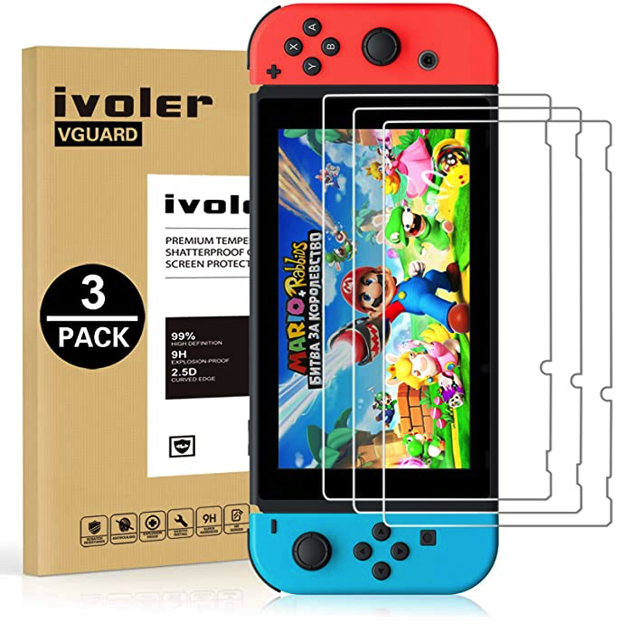Screen Protector Tempered Glass Transparent HD Clear Anti-Scratch For Nintendo Switch | Gaming Shop