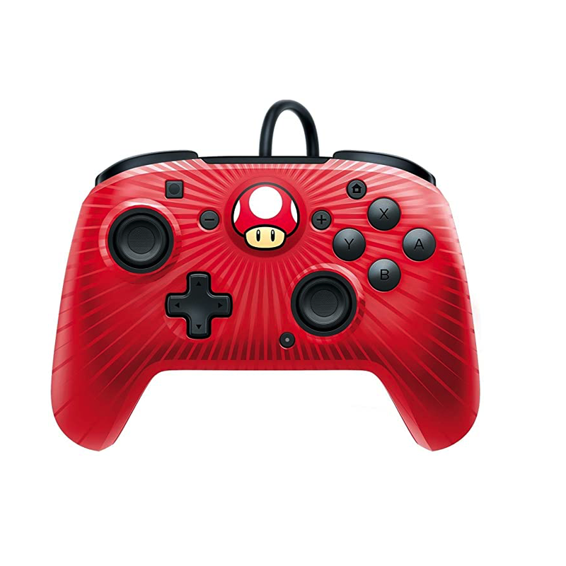PDP Nintendo Switch Faceoff Wired Pro Controller - Super Mario