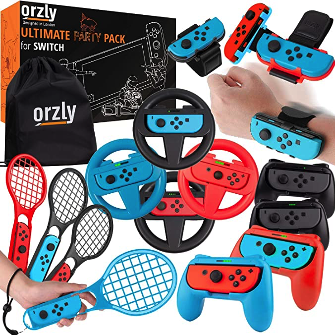 Orzly Accessories Bundle designed for Nintendo Switch
