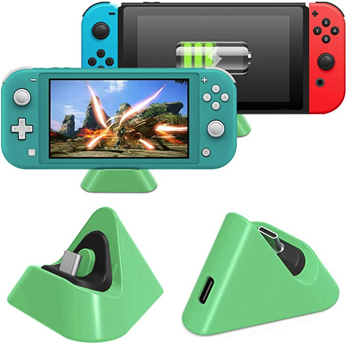 Compact Charging Stand Station with Type C Port Compatible with Nintendo Switch Lite