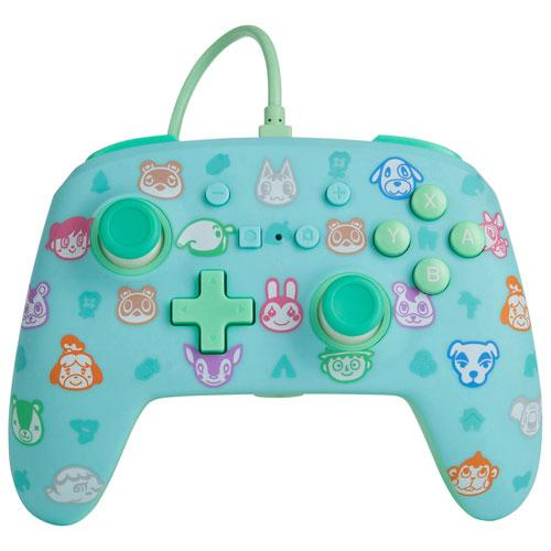 BDA Animal Crossing Wired Pro Controller for Switch - Turquoise | Gaming Shop
