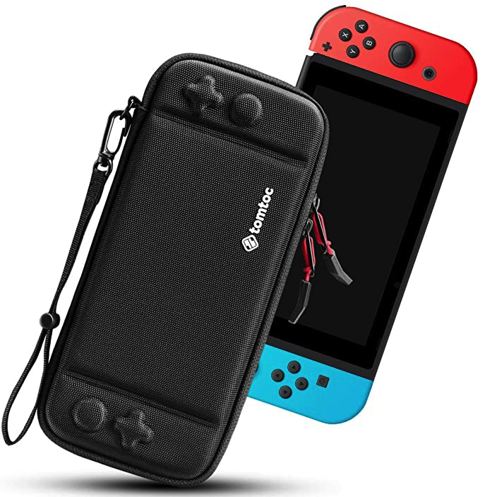 Tomtoc Carry Case for Nintendo Switch, Ultra Slim Hard Shell with 10 Game Cartridges