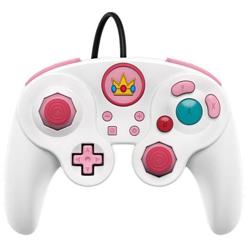 PDP Peach Wired Fight Pad Pro Controller for Switch - White (6037590048935)