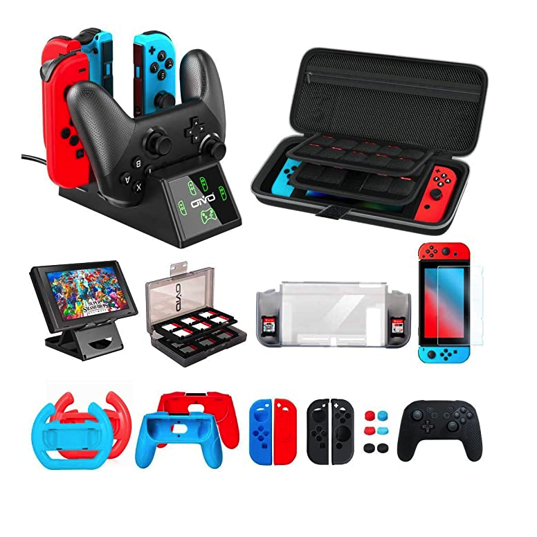 Accessories kit Bundle Compatible with Nintendo Switch, OIVO All in 1