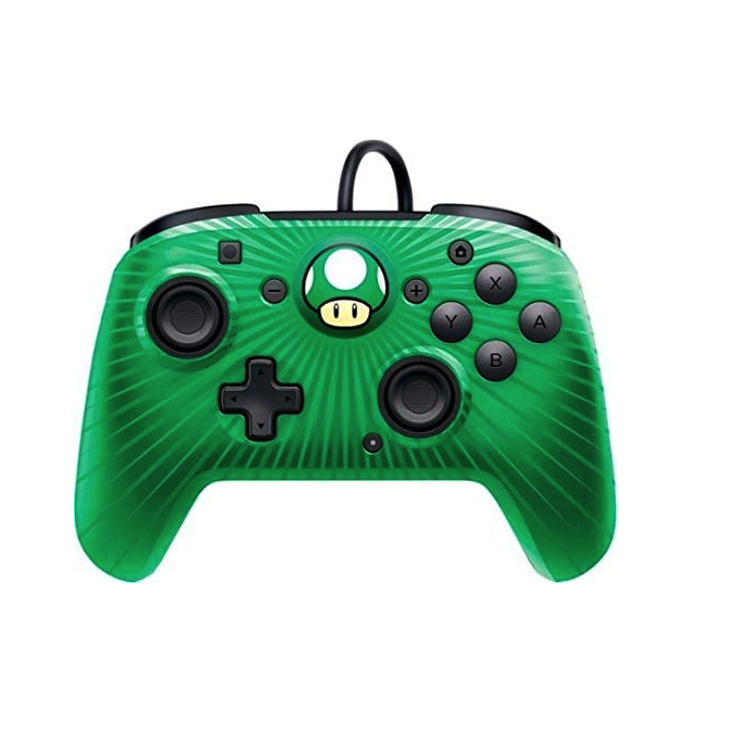 PDP Nintendo Switch Faceoff Wired Pro Controller - Green Mushroom