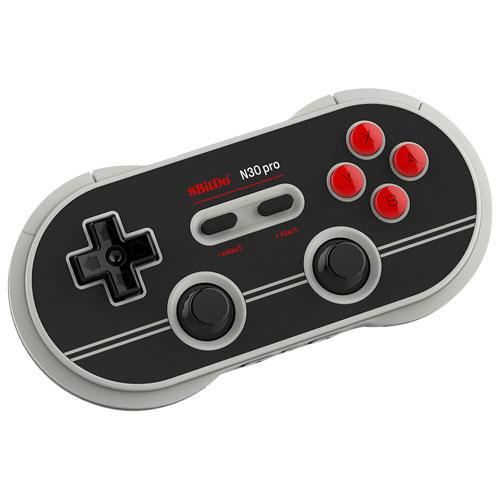 8BitDo N30 Pro 2 Bluetooth Controller for Switch - Black/Grey/Red | Gaming Shop