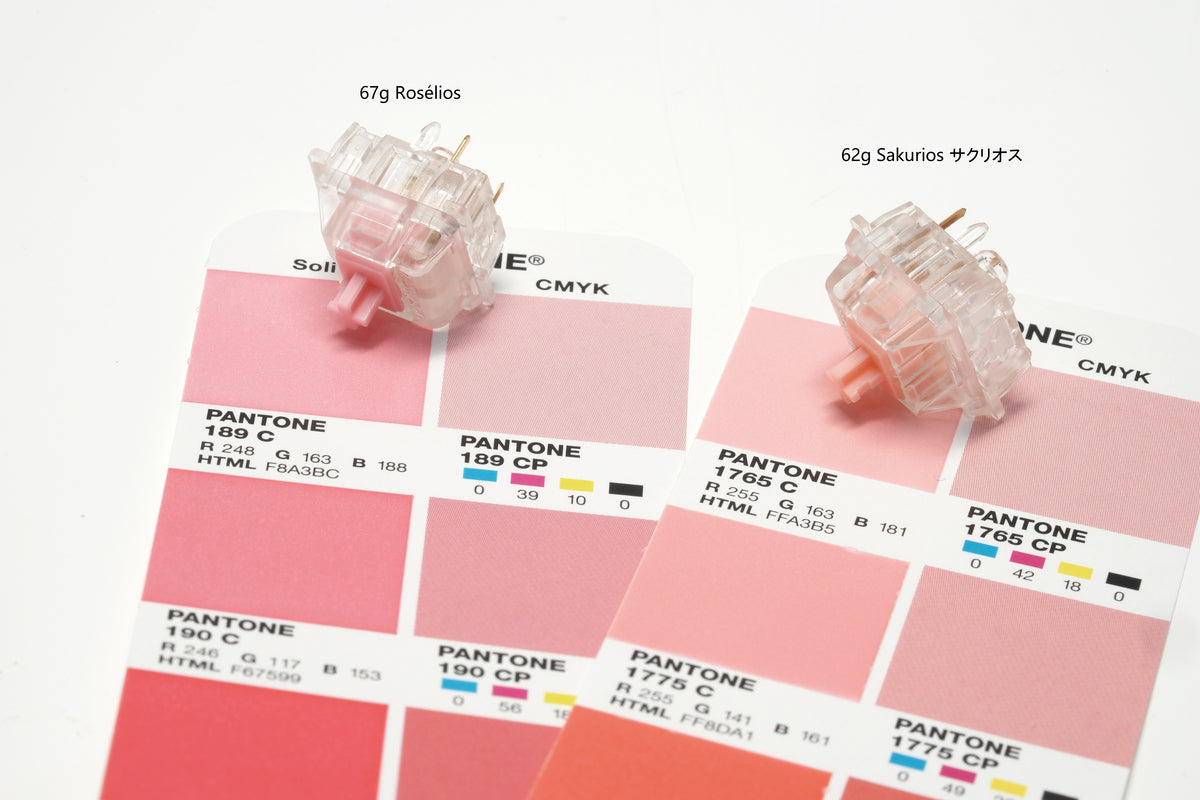 Rosélios, Sakurios on Pantone booklet.