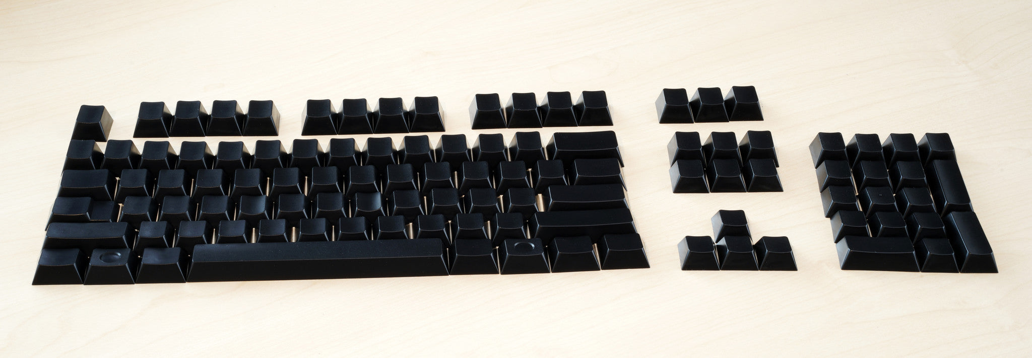 Cherry Original Blank Black POM Keycap Set