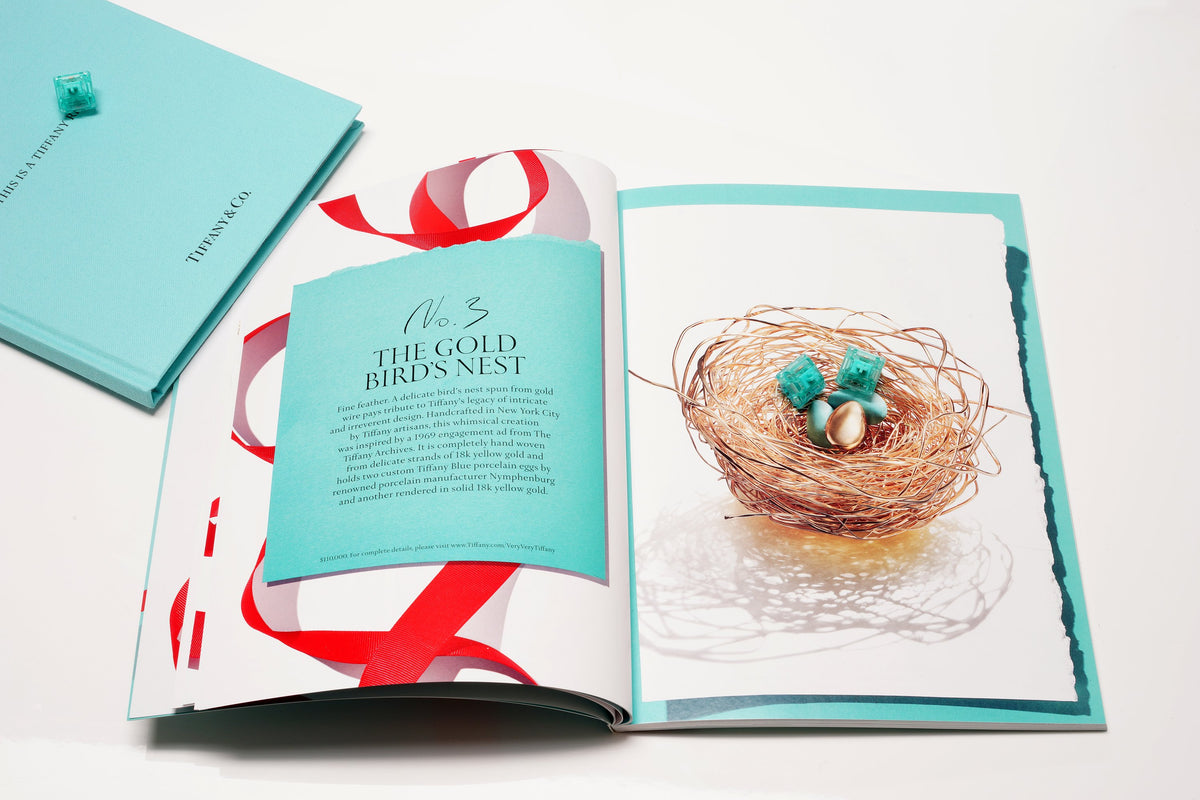 Tiffany Picture book with a gold nest