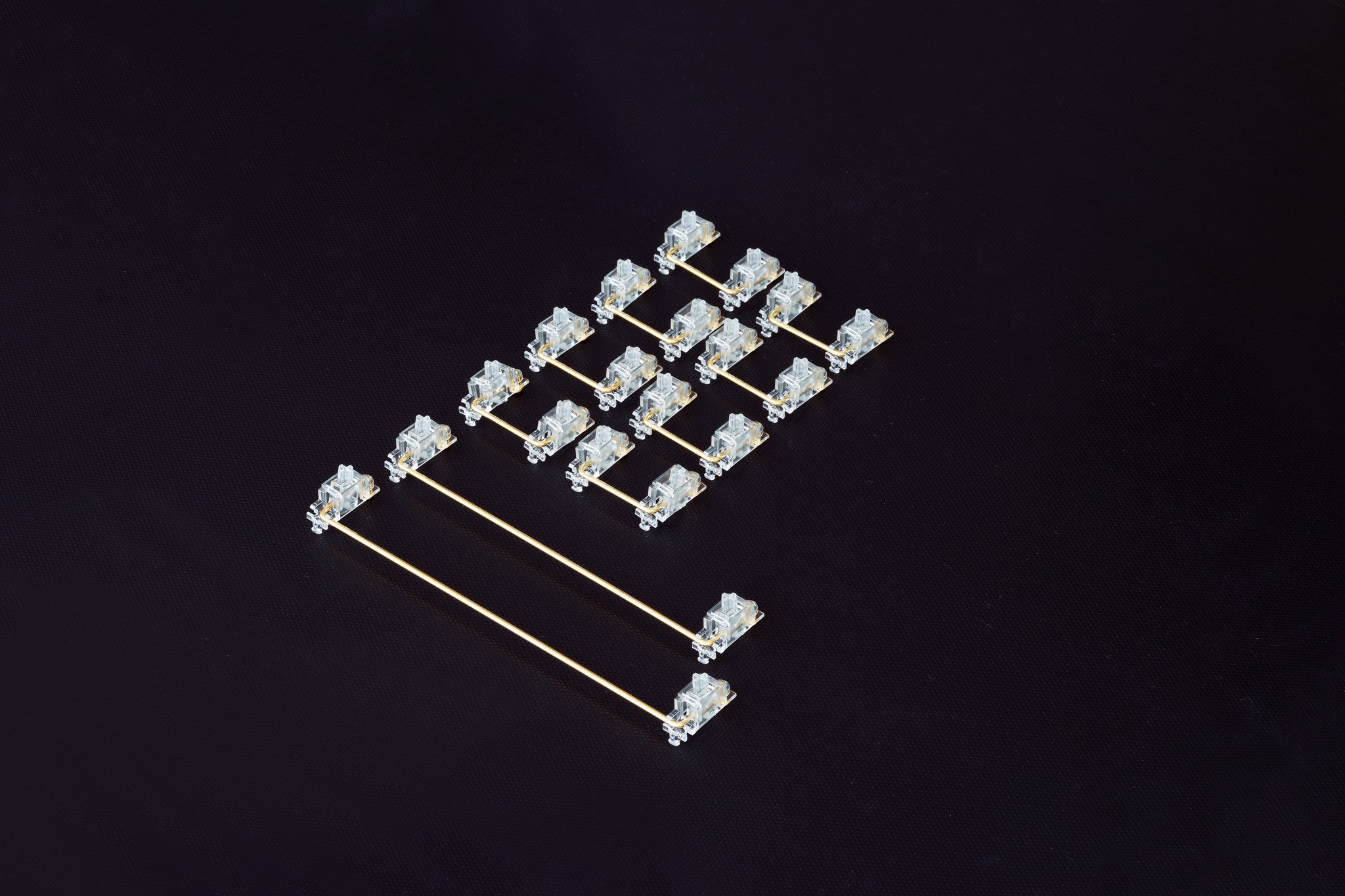 Transparent Gold Plated PCB Mount Screw-in Stabilizers V2