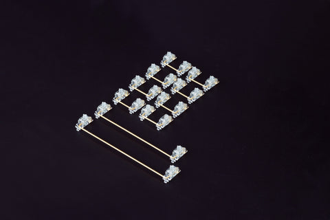 [GB/Pre-order] Transparent Gold Plated PCB Mount Screw-in Stabilizers