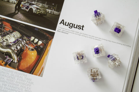 [GB] R6 Purple Zealio Switches (Tactile)