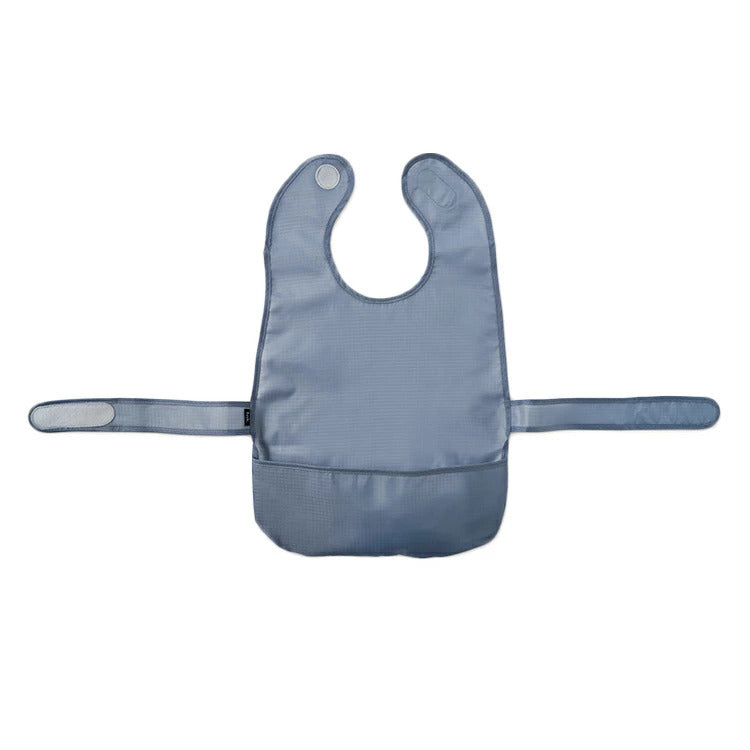 kids dish bib - gray