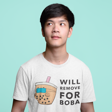 "Load image into Gallery viewer, ""Will Remove for Boba"" T-Shirt - myBubbli Exclusive"
