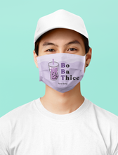 "Load image into Gallery viewer, ""Boba Thicc"" Taro Tea Gang Face Mask"