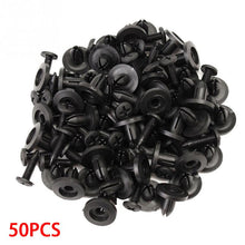 Load image into Gallery viewer, New 50pcs Black 6mm Car Bumper  Hole Black Plastic Rivets Fasteners Clips