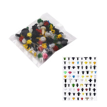 Load image into Gallery viewer, 100PCS Mixed Auto Fastener Random Car Fender Plastic Clips Vehicle Bumper Clips Auto Retainer Fastener Rivet Door Panel Liner