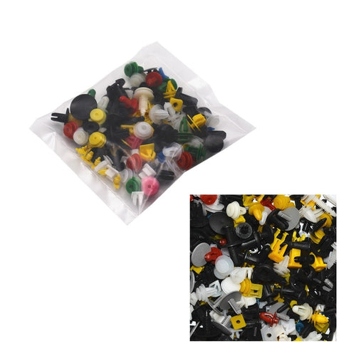 100PCS Mixed Auto Fastener Random Car Fender Plastic Clips Vehicle Bumper Clips Auto Retainer Fastener Rivet Door Panel Liner