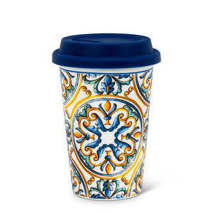 Italian Tile Takeaway Cup. 2 Pieces