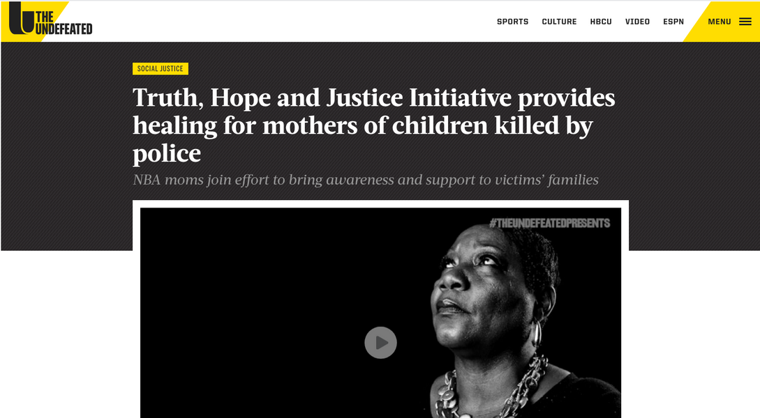 Truth, Hope and Justice Initiative provides healing for mothers of children killed by police