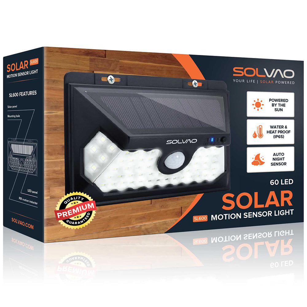 SOLVAO Solar Motion Sensor Light (60 LED)