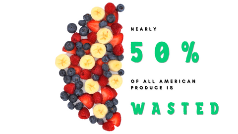 50% of produce is wasted in the US