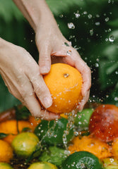 Person Washing Fruit