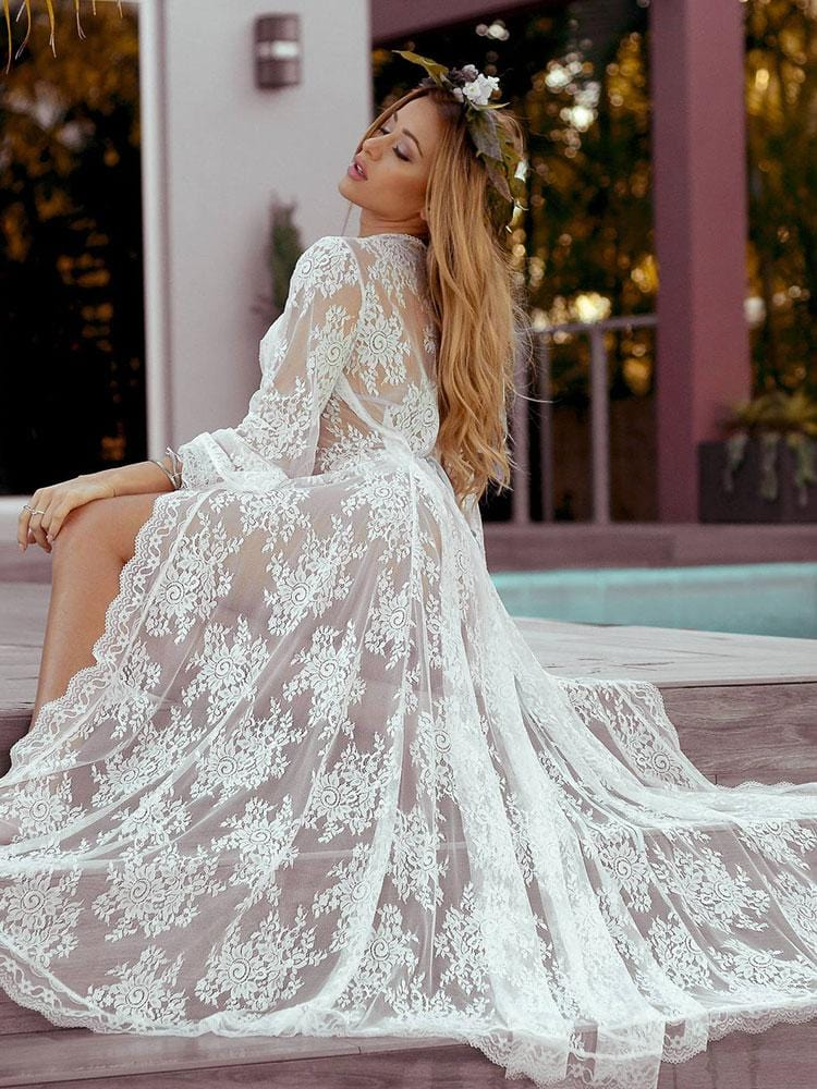SHEER LACE COVER-UPS