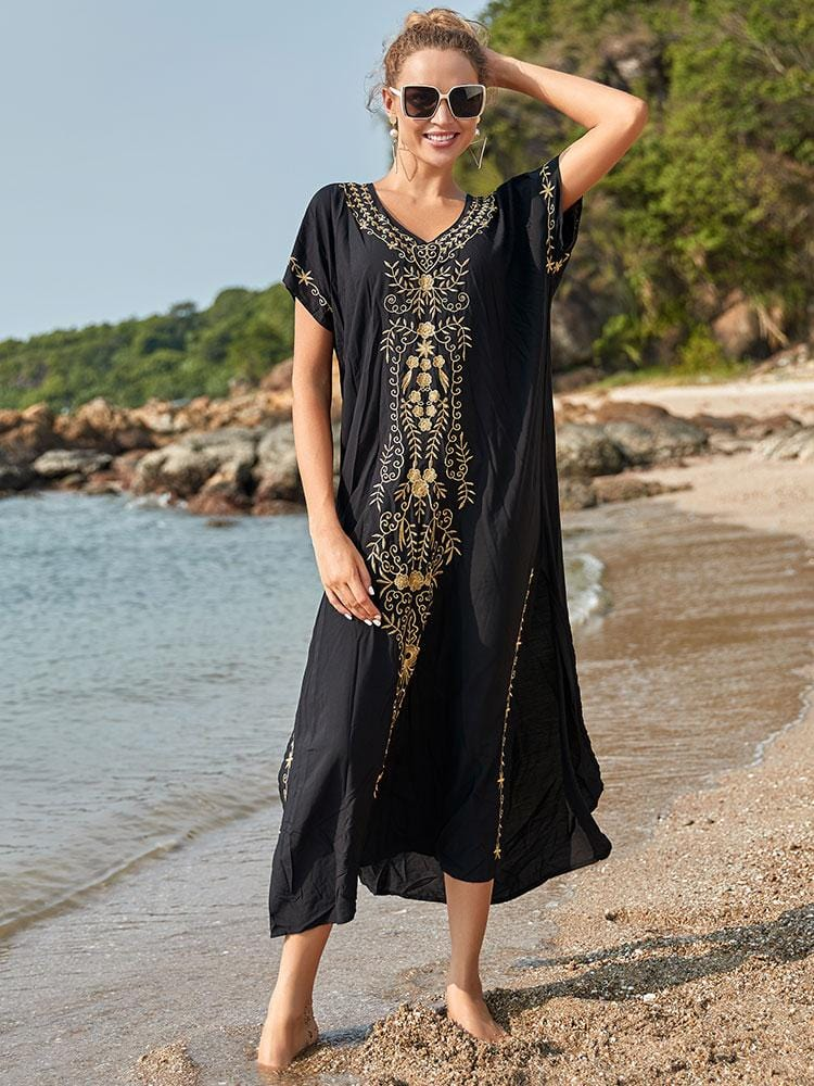 EMBROIDERY COTTON COVER-UPS