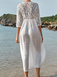 WHITE LACE TUNIC BEACH COVER-UP