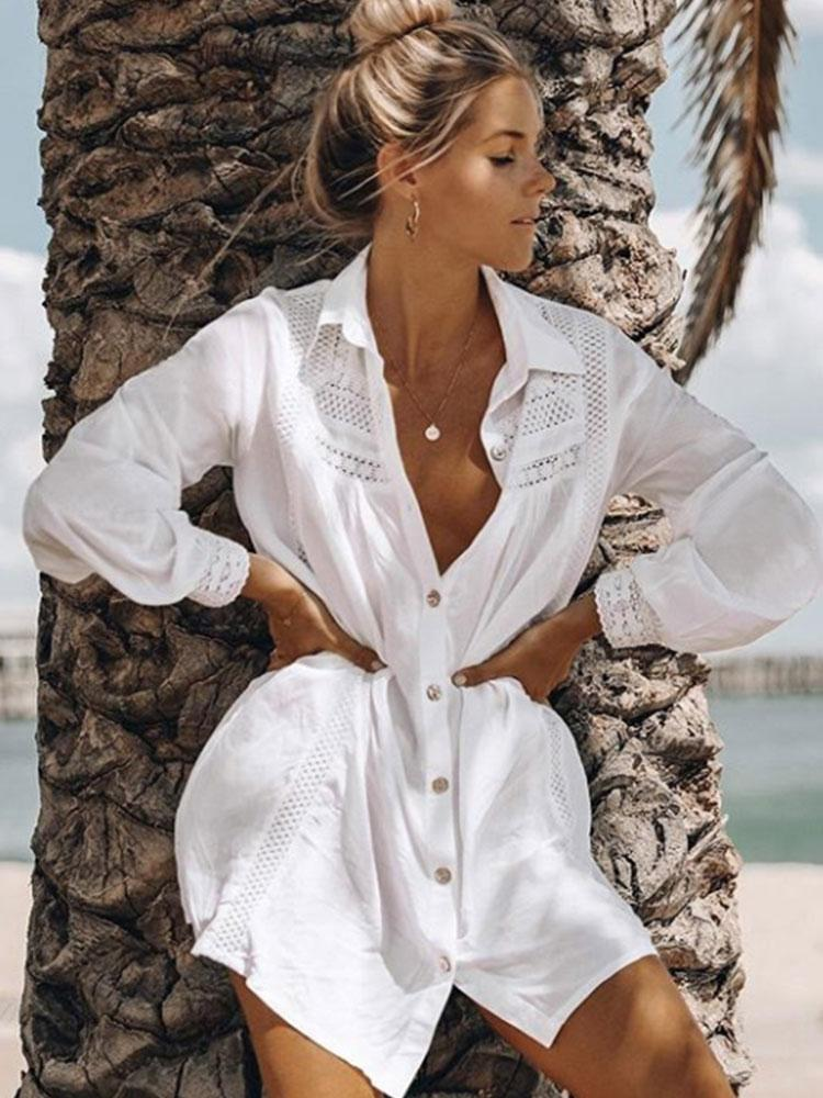 WHITE COTTON SUMMER SHIRTS