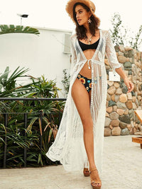 WHITE LACE SEXY BEACH COVER UP