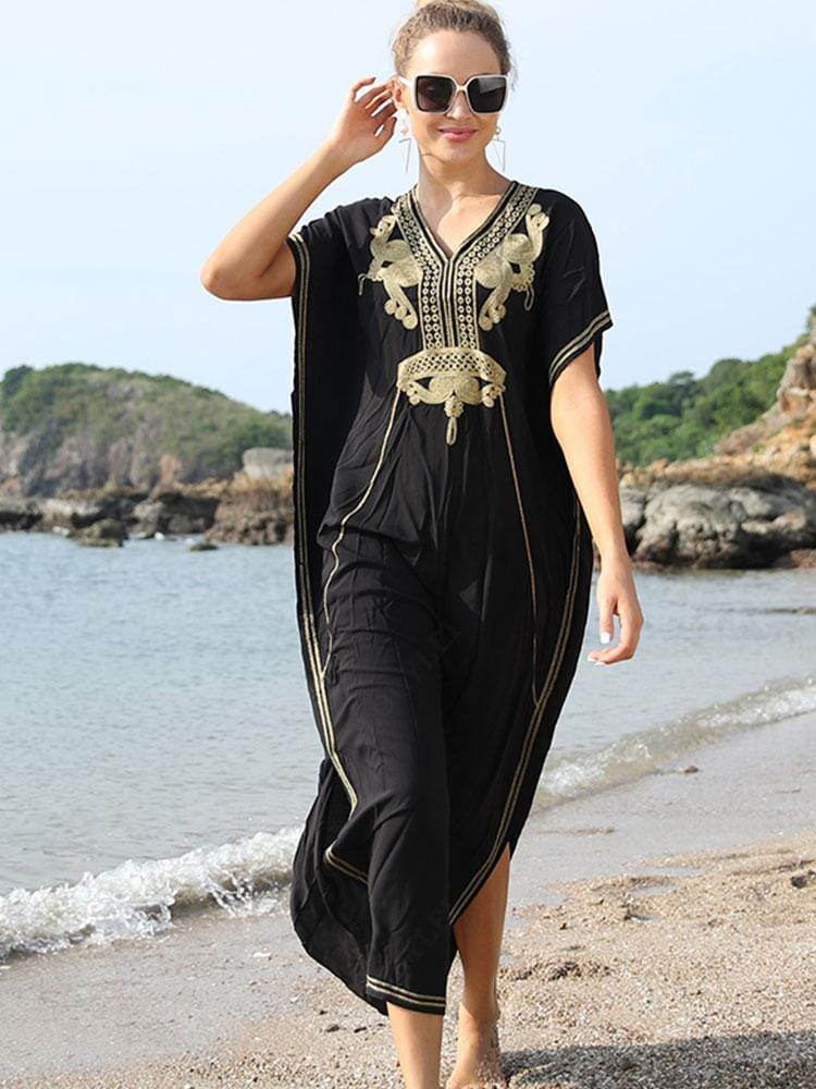 EMBROIDERED MOROCCAN KAFTAN