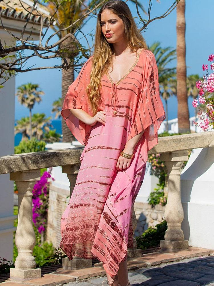 PINK SEXY QUICK-DRYING KAFTAN