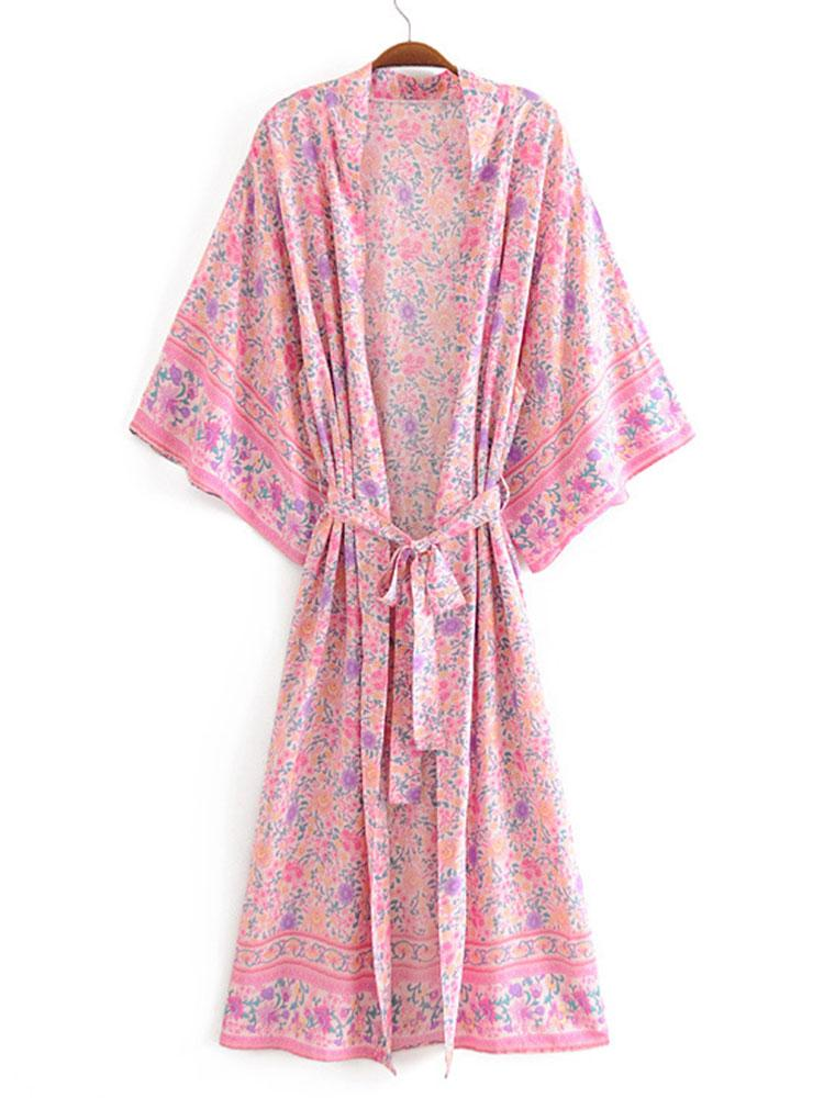 WIDE SLEEVES KIMONO COVER-UP