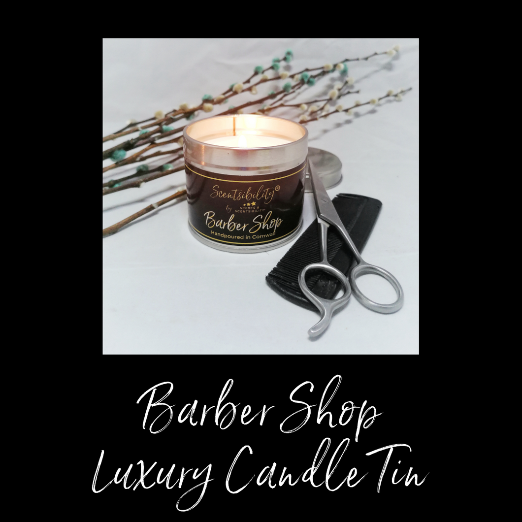 Barber Shop Luxury Candle Tin