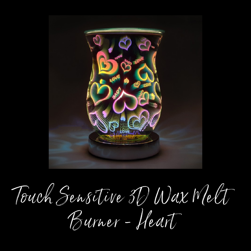 Touch Sensitive 3D Wax Melt Burner - Heart