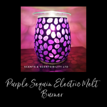 Load image into Gallery viewer, Purple Sequin Electric Melt Burner